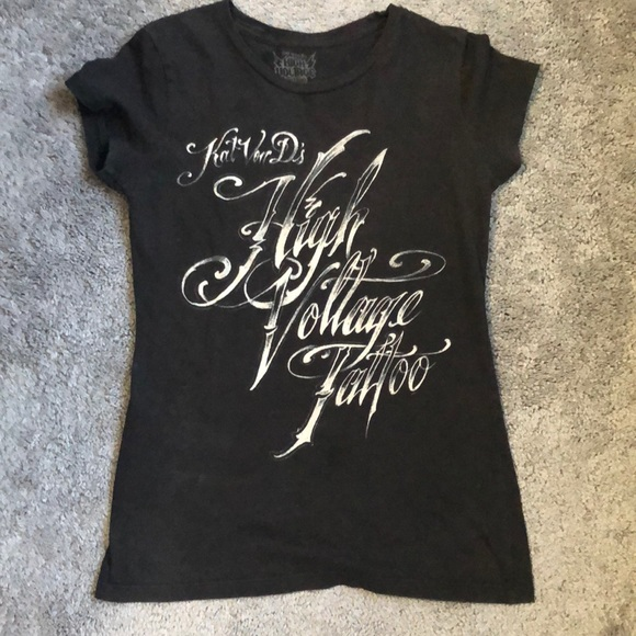 Kat Von D High Voltage Tattoo Shirt Medium